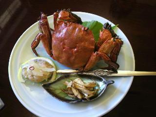 もずく蟹。中華屋さんだと上海蟹。